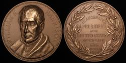 """Us Coins - 1841 William Henry Harrison """"Inauguration Medal"""" - Ninth President of the United States (March 4, 1841 to April 4, 1841) - Original US Mint Medal by George T. Morgan"""