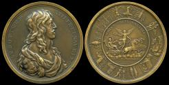 World Coins - 1638  France - Birth of the Dauphin by Michel Molart.