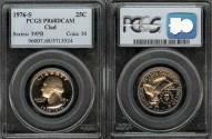 Us Coins - 1976s Washington Quarter Dollar PCGS PR68DCAM