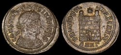Ancient Coins - Constantine II Ae3 - PROVIDENTIAE CAESS - Heraclea Mint