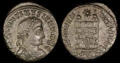 Ancient Coins - Constantine II Ae3 - PROVIDENTIAE CAESS - London Mint