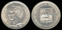 World Coins - 1960(a) Venezuela 50 Centimos BU