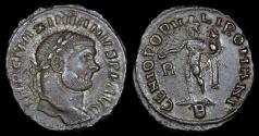 Ancient Coins - Maximianus Ae Follis - GENIO POPVLI ROMANI - Rome Mint