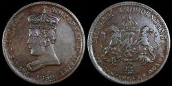 World Coins - 1850 Haiti 6-1/4 Centimes - Emperor Faustin I