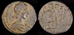 Ancient Coins - Arcadius Ae3 - VIRTVS EXERCITI - Heraclea Mint