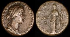 Ancient Coins - Lucilla Dupondius - CONCORDIA - Rome Mint