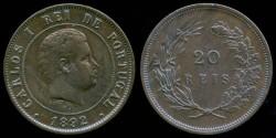 World Coins - 1892 Portugal 20 Reis XF
