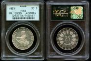 World Coins - 1963 Austria 25 Shilling PCGS PR-64 - Silver Commemorative