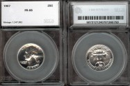 Us Coins - 1957 Washington Quarter SEGS PR66