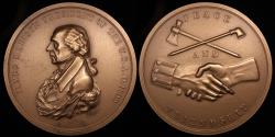 "Us Coins - 1809 James Madison ""Indian Peace Medal"" - Fourth President of the United States (March 4, 1809 to March 3, 1817) - Original US Mint Medal by John Reich"