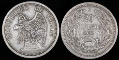 World Coins - 1932 Chile 20 Centavos XF
