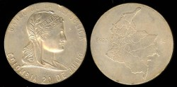 World Coins - 1948 Columbia – 25th Anniversary of the Central Bank of Colombia