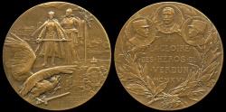 World Coins - 1917 France - Aux Heros de Verdun by Charles Philippe Germain Aristide Pillet