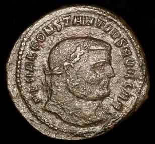 Ancient Coins - Constantius I Follis - GENIO POPVLI ROMANI - Antioch Mint