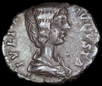 Ancient Coins - Julia Domna Denarius - HILARITAS - Laodicea Mint