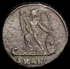 Ancient Coins - Constantine I Ae3 City Commemorative - Victory on Prow - Antioch Mint