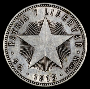 World Coins - 1915 Cuba 20 Centavos