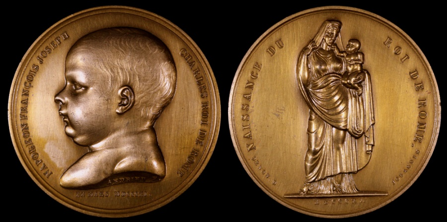 World Coins - 1811 France - Napoleon - Birth of the King of Rome - by Dominique-Vivant Denon, Jean-Bertrand Andrieu and Julien Marie Jouannin