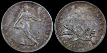 World Coins - 1916 France 50 Centimes VF