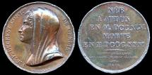 World Coins - 1816 France - Stéphanie Félicité du Crest de Saint-Aubin (French writer, harpist and educator) by Peuvrier