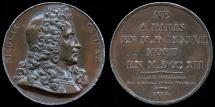 World Coins - 1818 France - Nicolas Catinat (French military commander and Marshal of France under Louis XIV) by Joseph Francois Domard