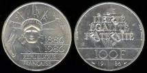 World Coins - 1986 France 100 Franc Piefort BU
