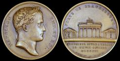 World Coins - 1806 France - Napoleon - Entry into Berlin by Louis Jaley and Dominique-Vivant Denon