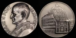 World Coins - 1975 Vatican - Pope Paul VI - City of Rome Medal by Costantino Affer
