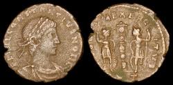 Ancient Coins - Constantius II Ae4 - GLORIA EXERCITVS - Rome Mint
