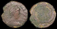 Ancient Coins - Arcadius 1/2 Centenionalis - VOT X MVLT XX - Antioch Mint