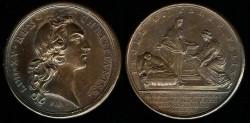World Coins - 1751 France – Birth of Duc de Bourgogne by Francois Marteau