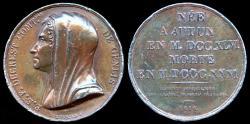 World Coins - 1816 France - Stéphanie Félicité du Crest de Saint-Aubin (French writer, harpist and educator) by Peuvrier