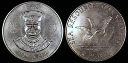 "World Coins - 1979 Tonga 2 Pa'anga - FAO - ""Humpback Whale"" Commemorative (Only 8,000 pieces were struck) - BU"