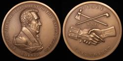 """Us Coins - 1829 Andrew Jackson """"Indian Peace Medal"""" - Seventh President of the United States (March 4, 1829 to March 3, 1837) - Original US Mint Medal by Moritz Furst and John Reich"""