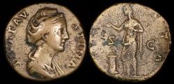 Ancient Coins - Faustina I Sestertius - AVGVSTA - Rome Mint