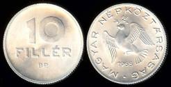 World Coins - 1965 BP Hungary 10 Filler BU