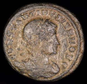Ancient Coins - Constantine II Ae3 - GLORIA EXERCITVS - Antioch Mint