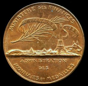 World Coins - 1889 France – Centenary of the French Revolution Commemorative Medal by Louis-Alexandre Bottée and Eugène André Oudiné