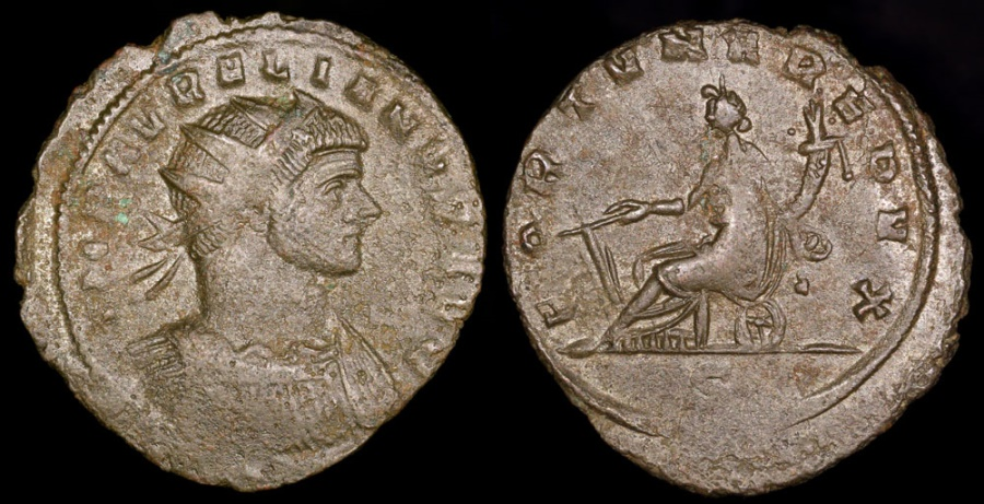 Ancient Coins - Aurelian Antoninianus - FORTVNA REDVX - Milan Mint