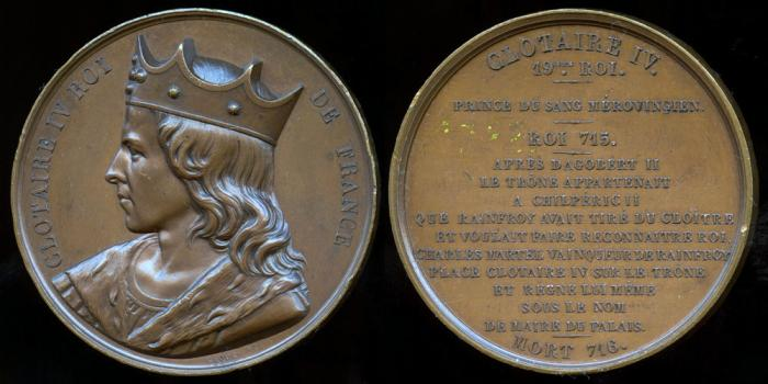 World Coins - 1840 France - Clotaire IV King of France engraved by Armand-Auguste Caqué for his Galerie Numismatique des rois de France #19