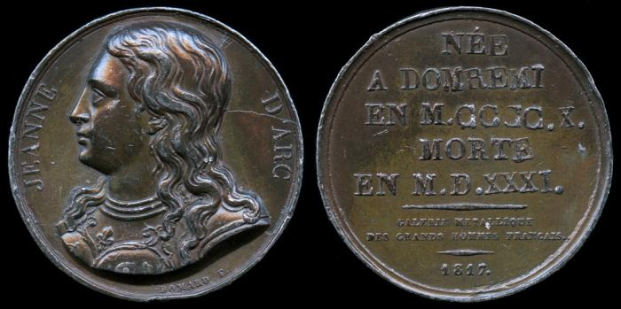World Coins - 1817 France -  Jeanne d'Arc By Joseph François Domard