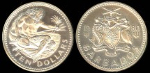 World Coins - 1980 FM Barbados 10 Dollars Silver Proof