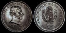 World Coins - 1960 (I) Uruguay 50 Centesimos - Decimal Coinage - BU
