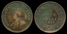 World Coins - 1916 India (British) 1/2 Pice F