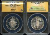 World Coins - 1968 Order of Malta 3 Scudi (Silver - F.A.O. Series) ANACS PF65 Deep Cameo