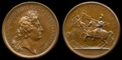 World Coins - 1672  France - Campaign of Louis XIV in Holland by Jean Mauger