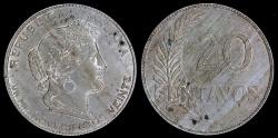 World Coins - 1920 Peru 20 Centavo UNC
