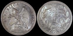 World Coins - 1933 Chile 1 Peso BU