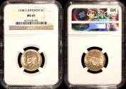 Us Coins - 1938 D Jefferson Nickel NGC MS65