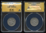 World Coins - 1932 Cuba 20 Centavos ANACS XF40 (This Is The Key For This Series)